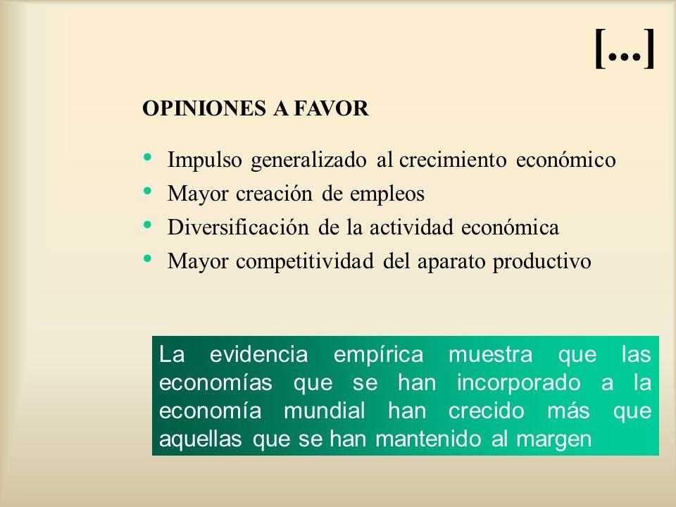 [...] Impulso generalizado al crecimiento económico